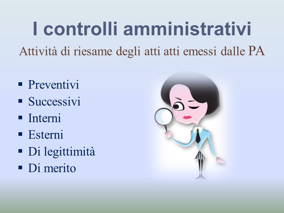 I controlli amministrativi