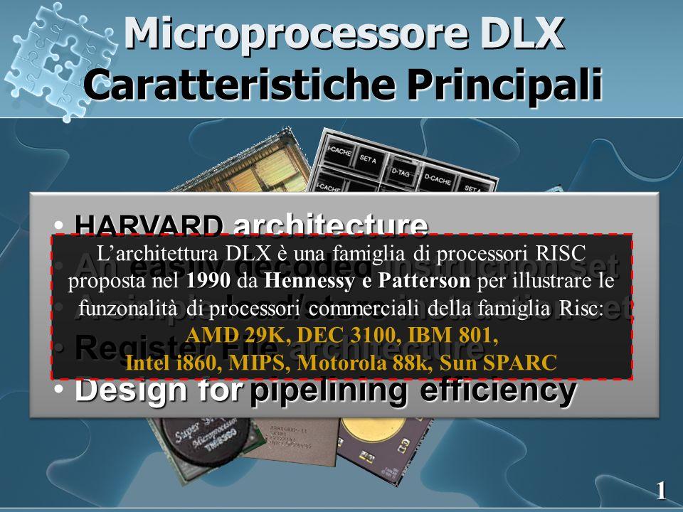 Caratteristiche Principali Intel i860, MIPS, Motorola 88k, Sun SPARC