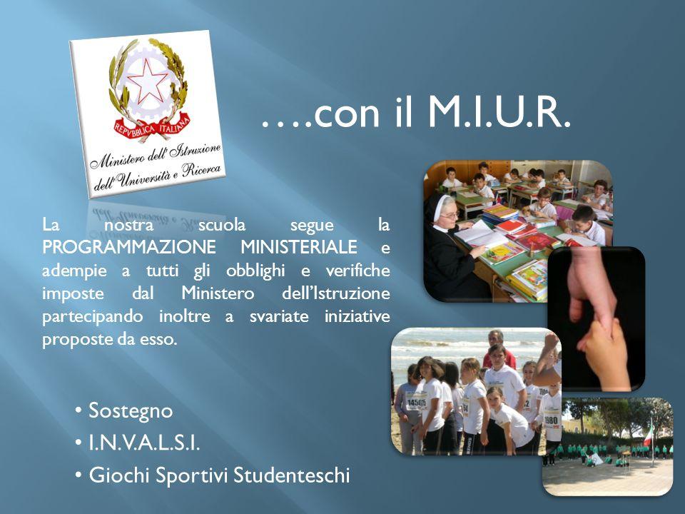 ….con il M.I.U.R. Sostegno I.N.V.A.L.S.I. Giochi Sportivi Studenteschi