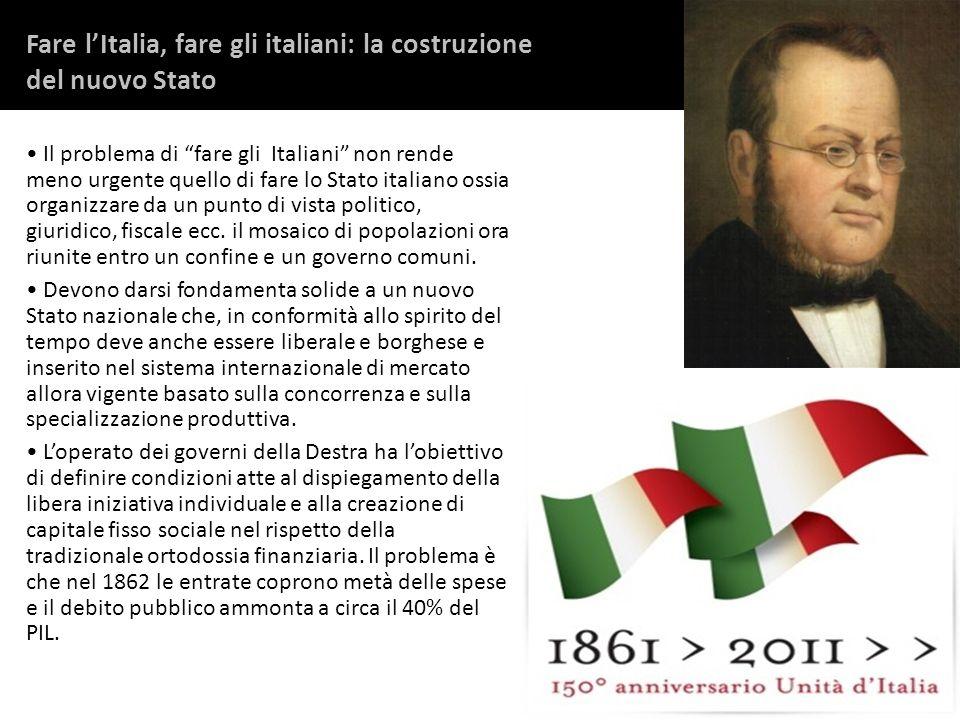 Fare l'Italia, fare gli italiani: la costruzione del nuovo Stato