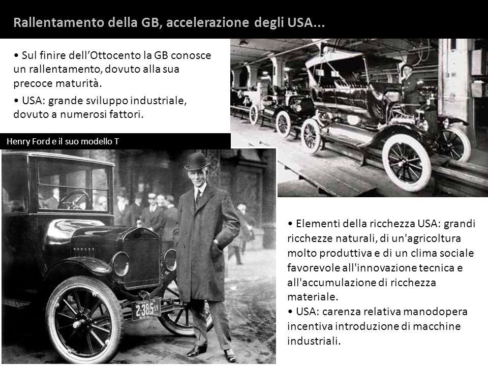 Rallentamento della GB, accelerazione degli USA...
