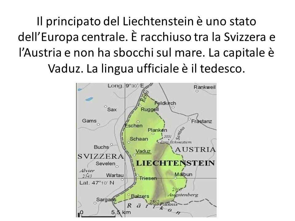 Il principato del Liechtenstein è uno stato dell'Europa centrale