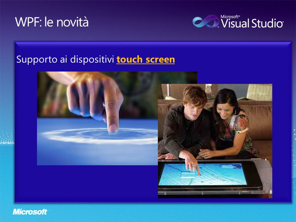 Supporto ai dispositivi touch screen