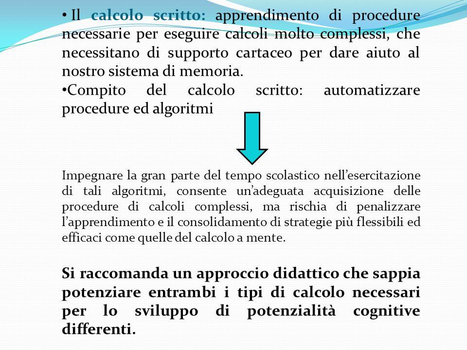 Compito del calcolo scritto: automatizzare procedure ed algoritmi
