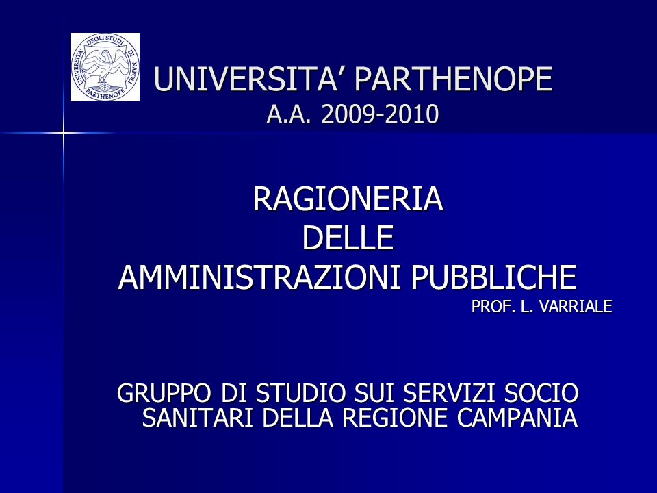 UNIVERSITA' PARTHENOPE A.A. 2009-2010