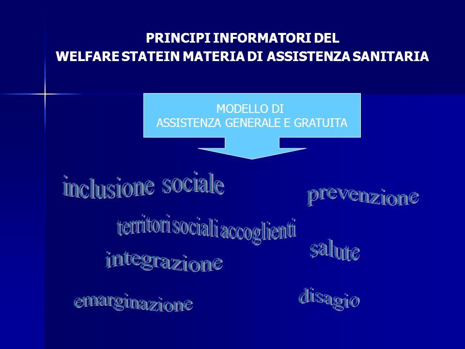 inclusione sociale prevenzione salute integrazione disagio