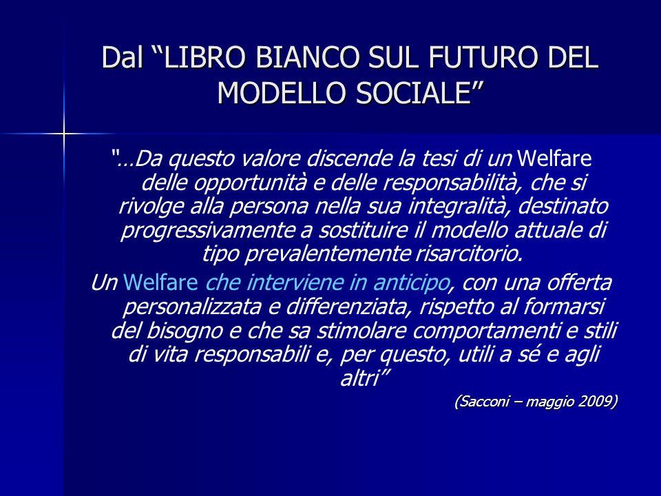 Dal LIBRO BIANCO SUL FUTURO DEL MODELLO SOCIALE