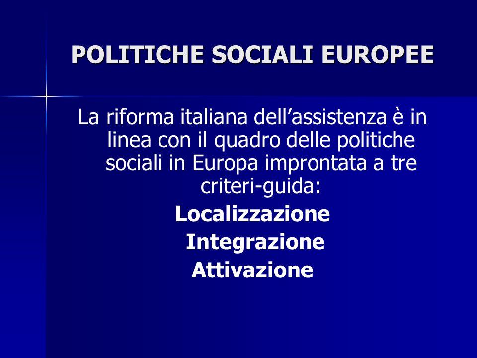 POLITICHE SOCIALI EUROPEE