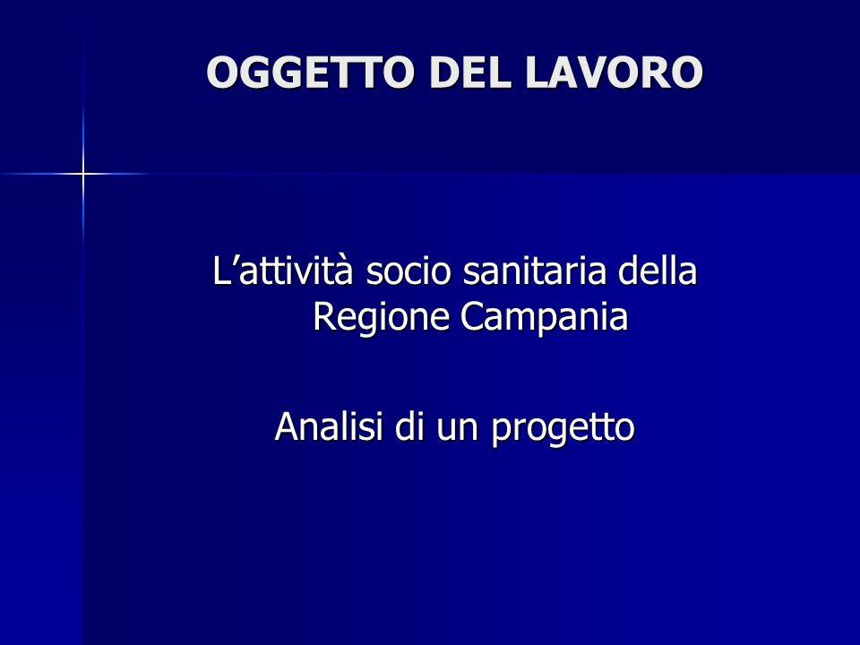 L'attività socio sanitaria della Regione Campania