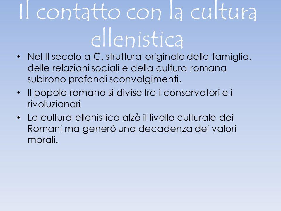 Il contatto con la cultura ellenistica