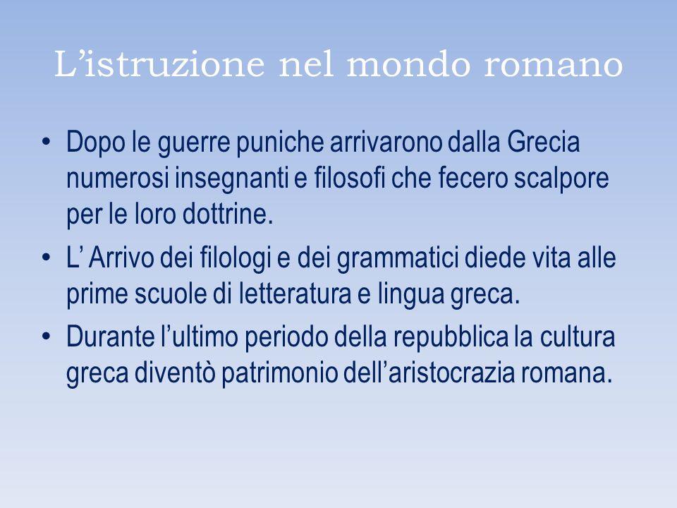 L'istruzione nel mondo romano