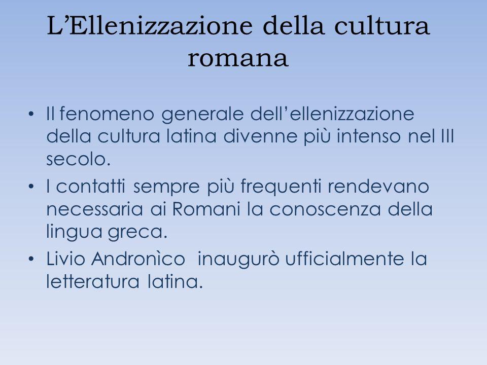 L'Ellenizzazione della cultura romana