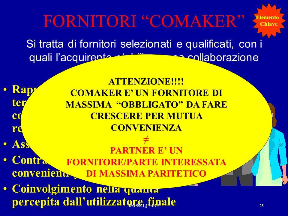 FORNITORE/PARTE INTERESSATA DI MASSIMA PARITETICO