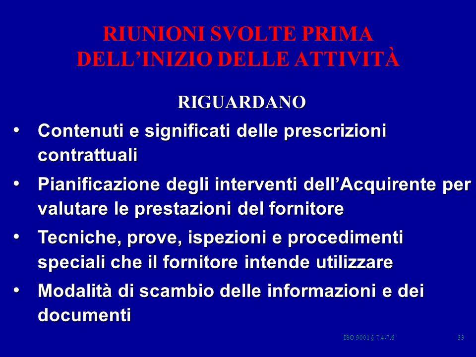 RIUNIONI SVOLTE PRIMA DELL'INIZIO DELLE ATTIVITÀ