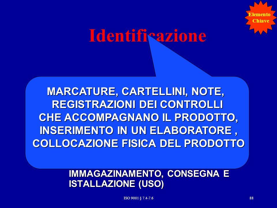 Identificazione MARCATURE, CARTELLINI, NOTE, Prodotti acquistati