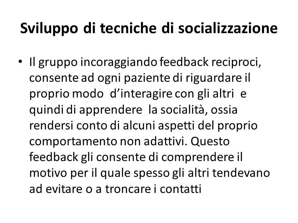 Sviluppo di tecniche di socializzazione
