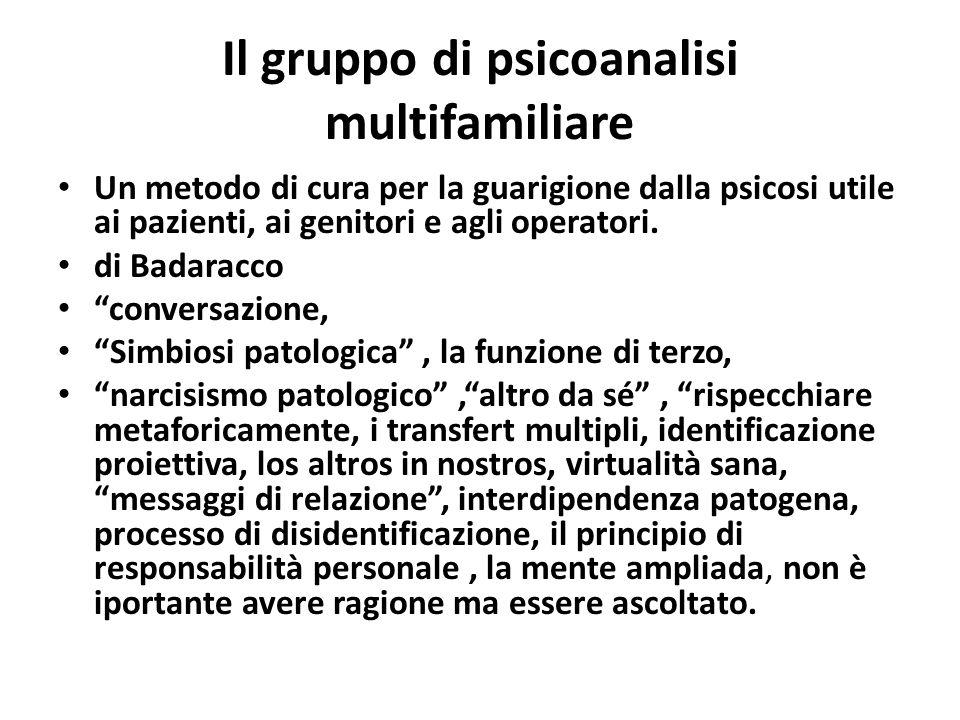 Il gruppo di psicoanalisi multifamiliare