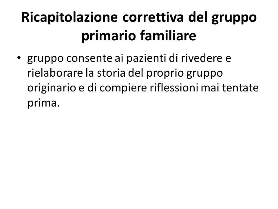 Ricapitolazione correttiva del gruppo primario familiare