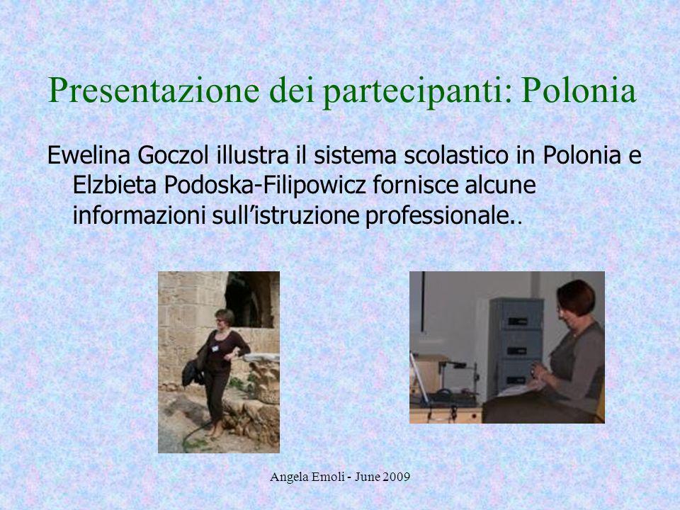 Presentazione dei partecipanti: Polonia