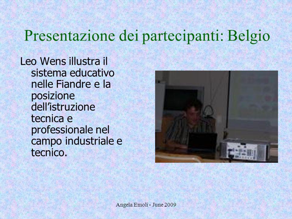 Presentazione dei partecipanti: Belgio