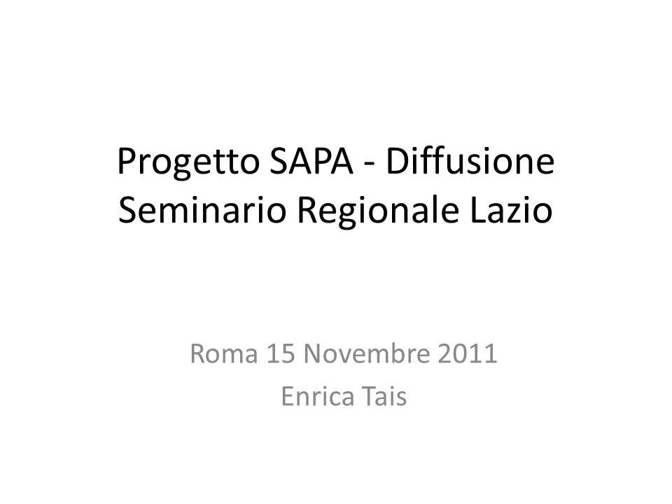 Progetto SAPA - Diffusione Seminario Regionale Lazio