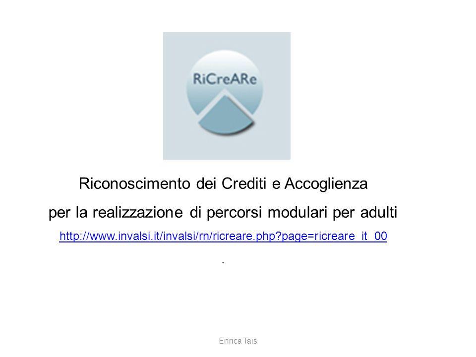 Riconoscimento dei Crediti e Accoglienza