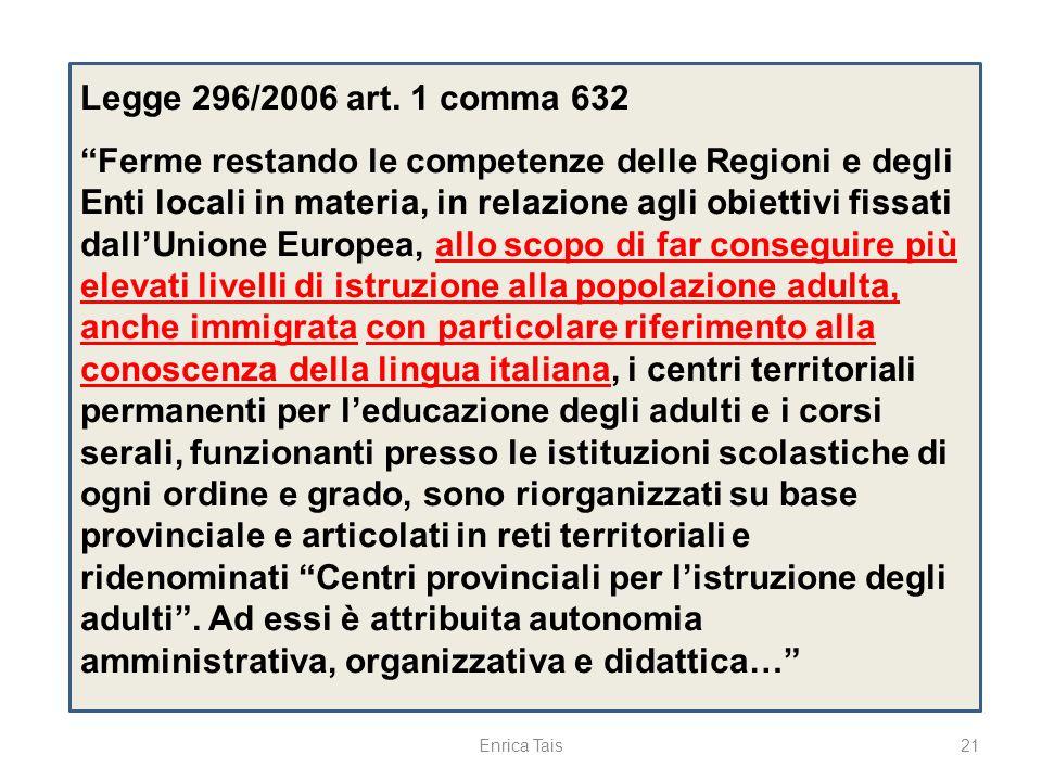 Legge 296/2006 art. 1 comma 632