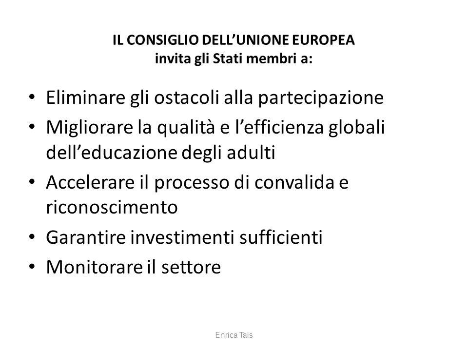 IL CONSIGLIO DELL'UNIONE EUROPEA invita gli Stati membri a: