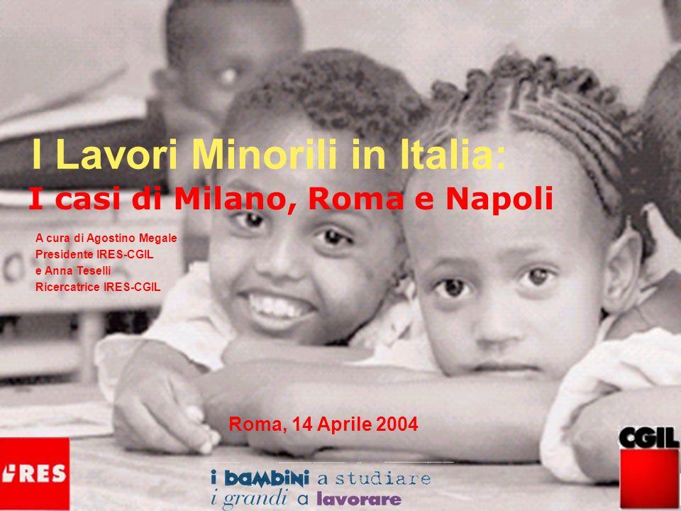 I Lavori Minorili in Italia: