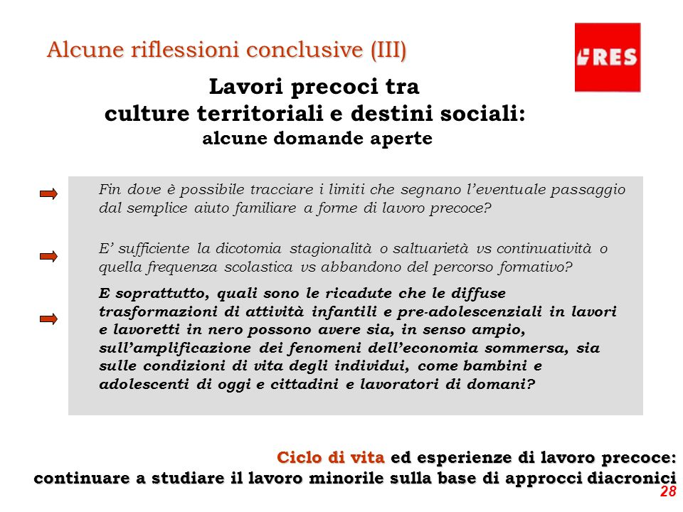 culture territoriali e destini sociali: