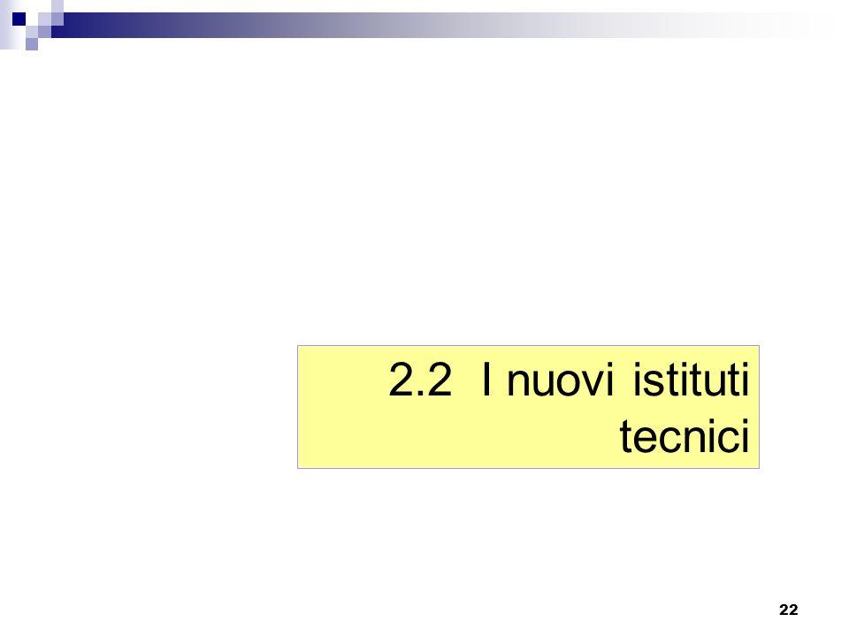 2.2 I nuovi istituti tecnici