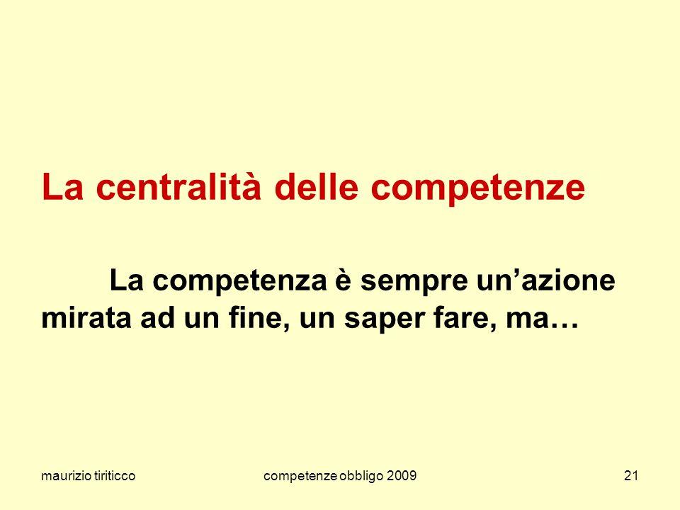 La centralità delle competenze