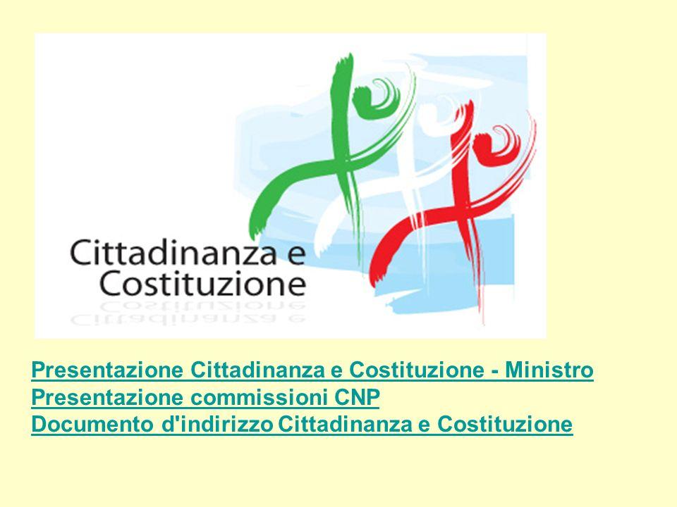 Presentazione Cittadinanza e Costituzione - Ministro