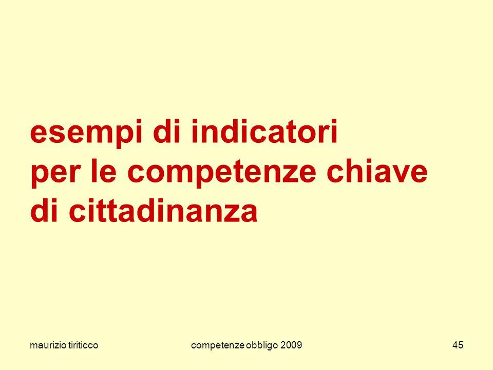 esempi di indicatori per le competenze chiave di cittadinanza