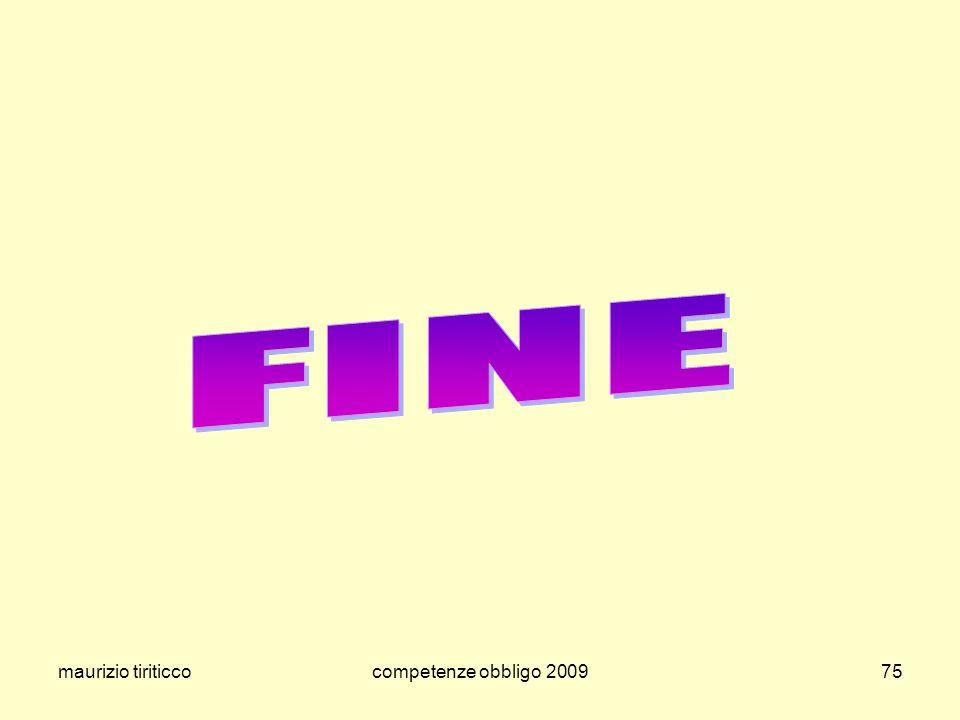 FINE maurizio tiriticco competenze obbligo 2009