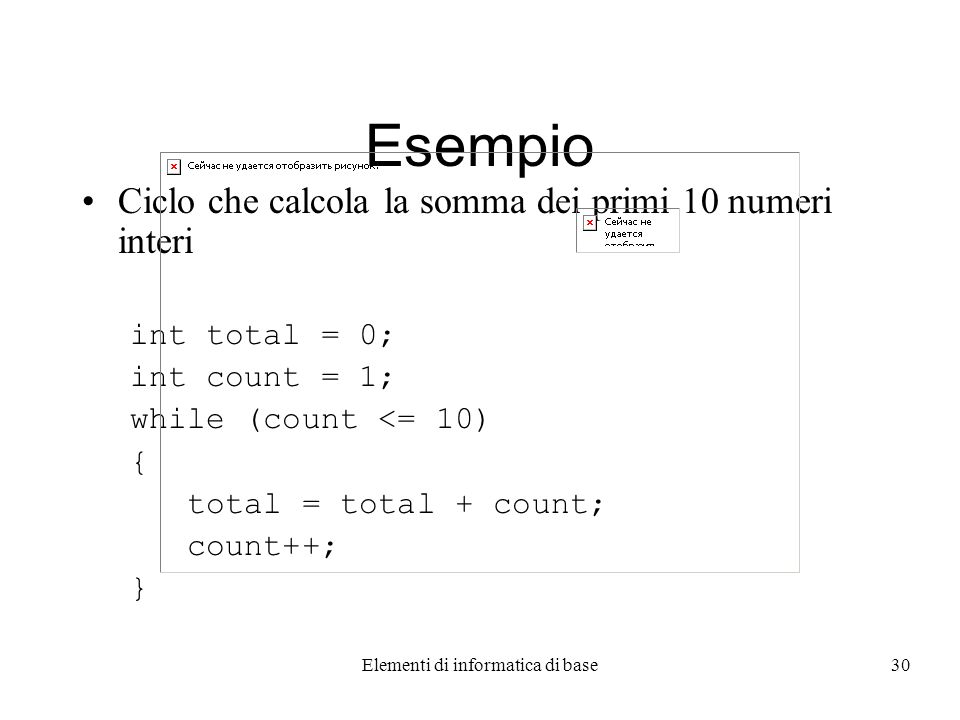 Elementi di informatica di base