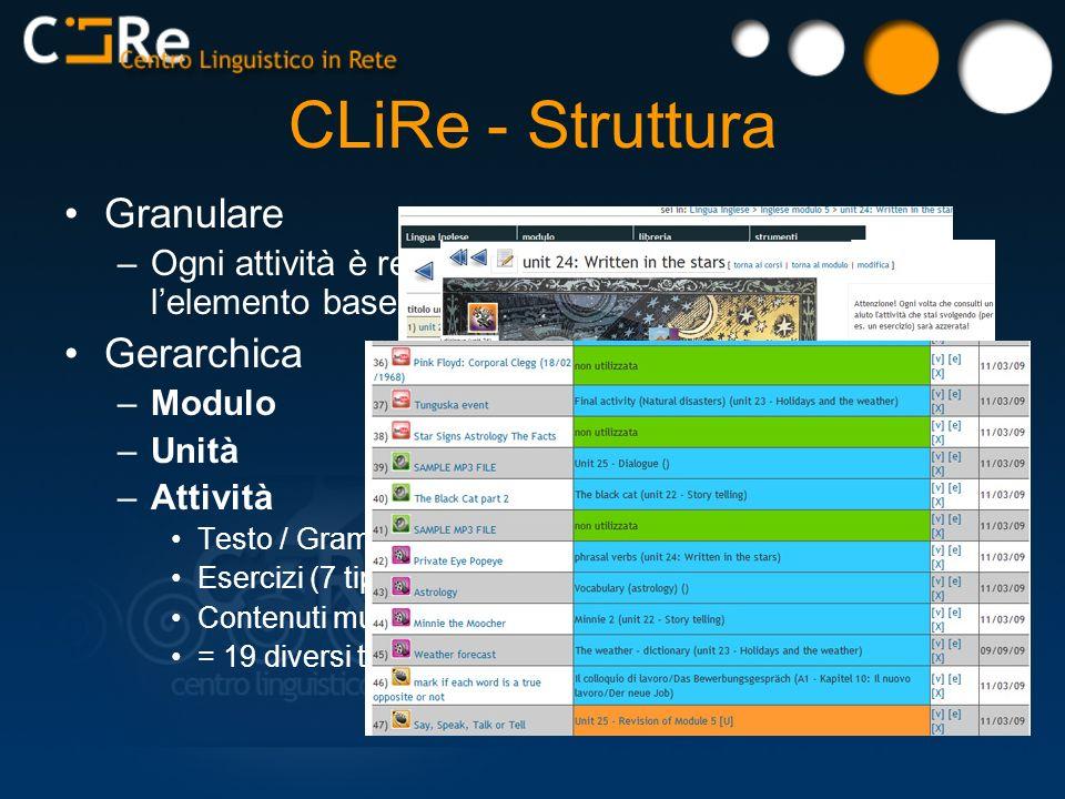 CLiRe - Struttura Granulare Gerarchica