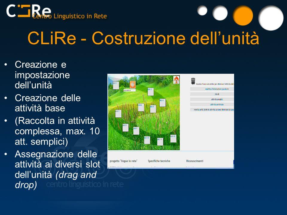 CLiRe - Costruzione dell'unità