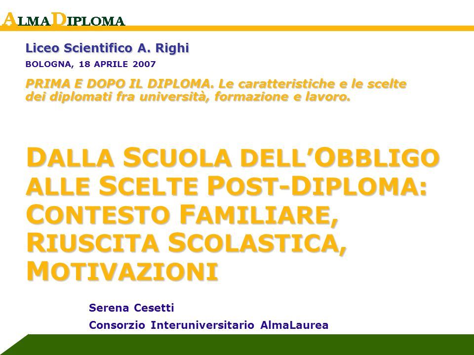 Liceo Scientifico A. Righi