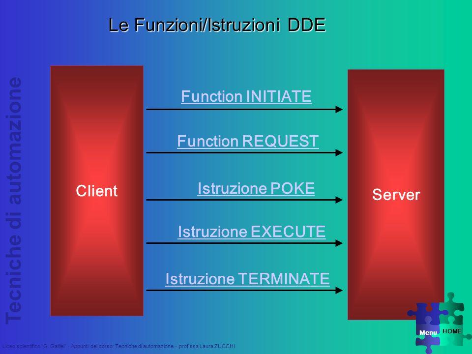 Le Funzioni/Istruzioni DDE