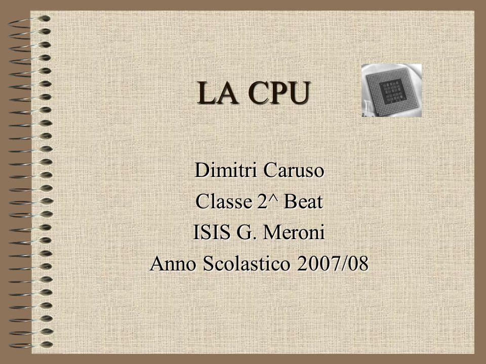 Dimitri Caruso Classe 2^ Beat ISIS G. Meroni Anno Scolastico 2007/08