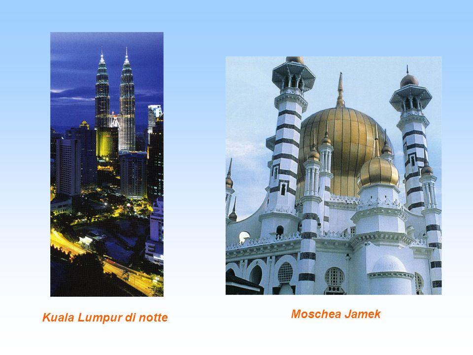 Kuala Lumpur di notte Moschea Jamek