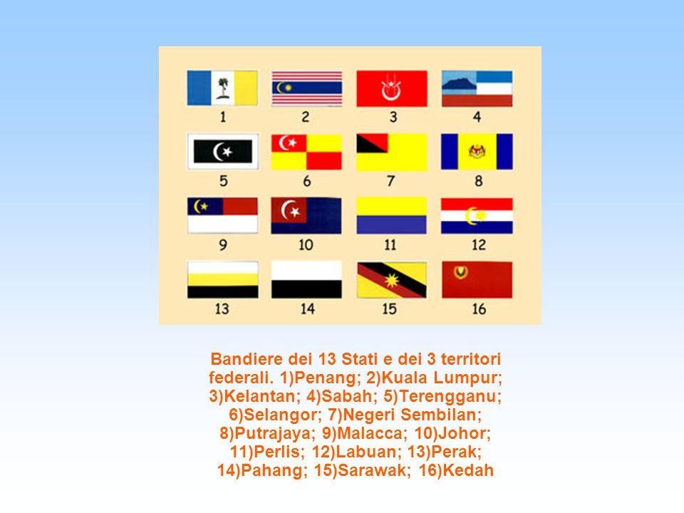 Bandiere dei 13 Stati e dei 3 territori federali
