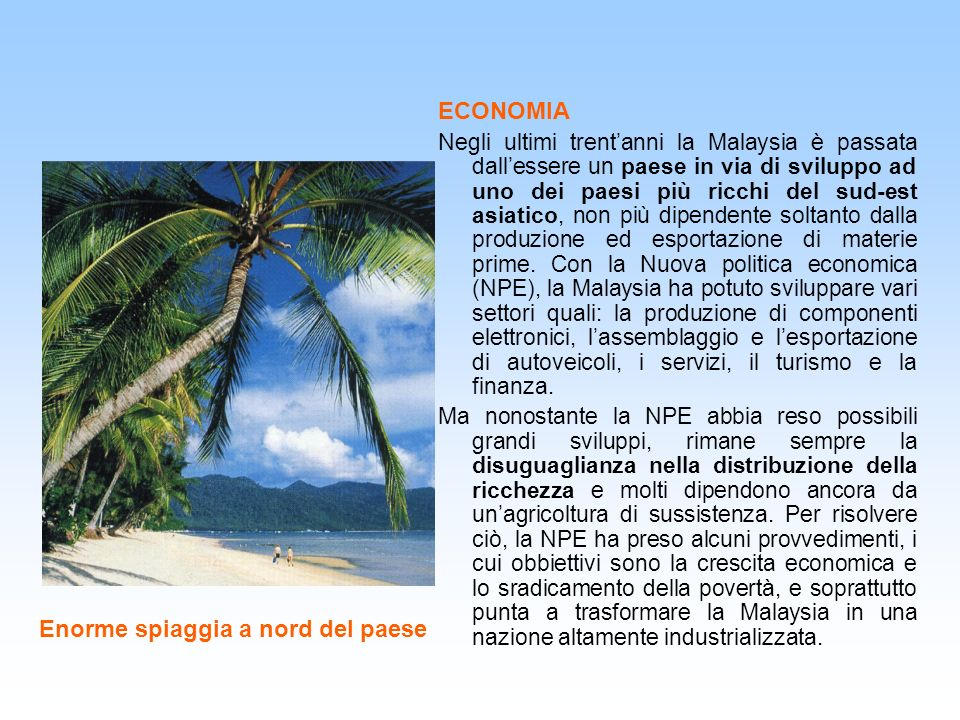 Enorme spiaggia a nord del paese