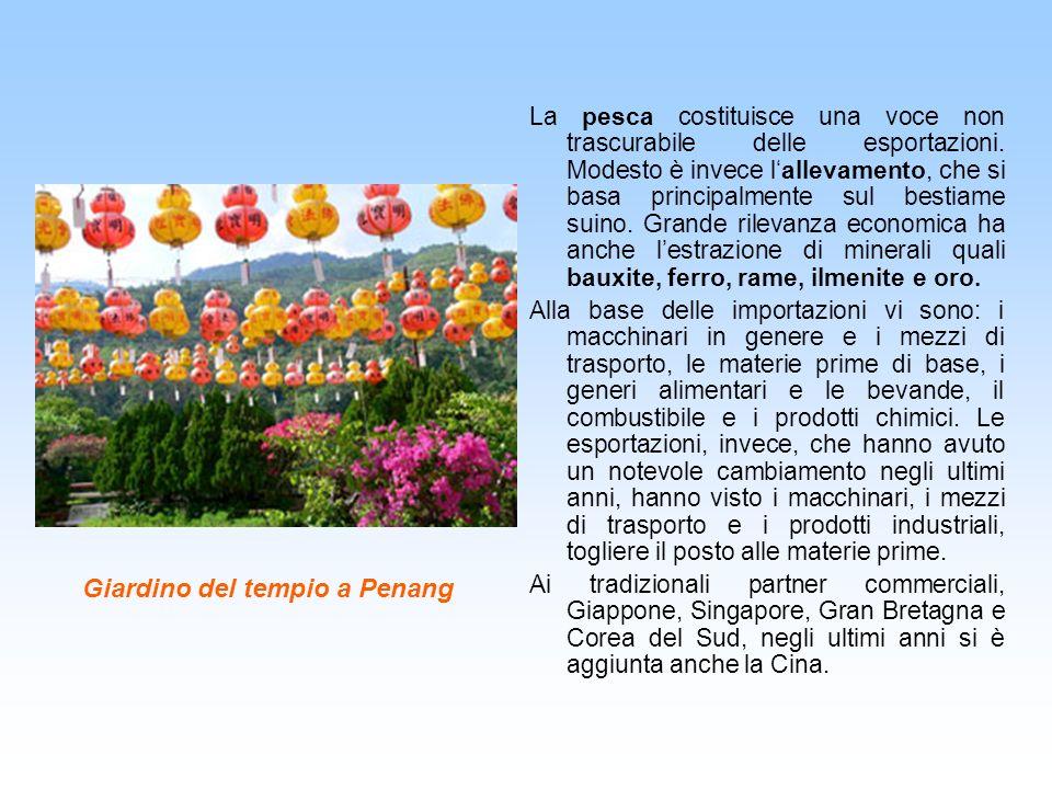 Giardino del tempio a Penang