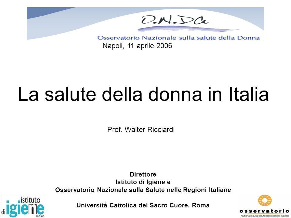 La salute della donna in Italia