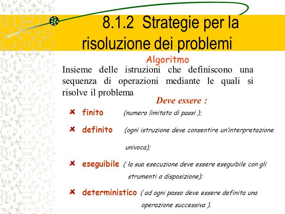 8.1.2 Strategie per la risoluzione dei problemi
