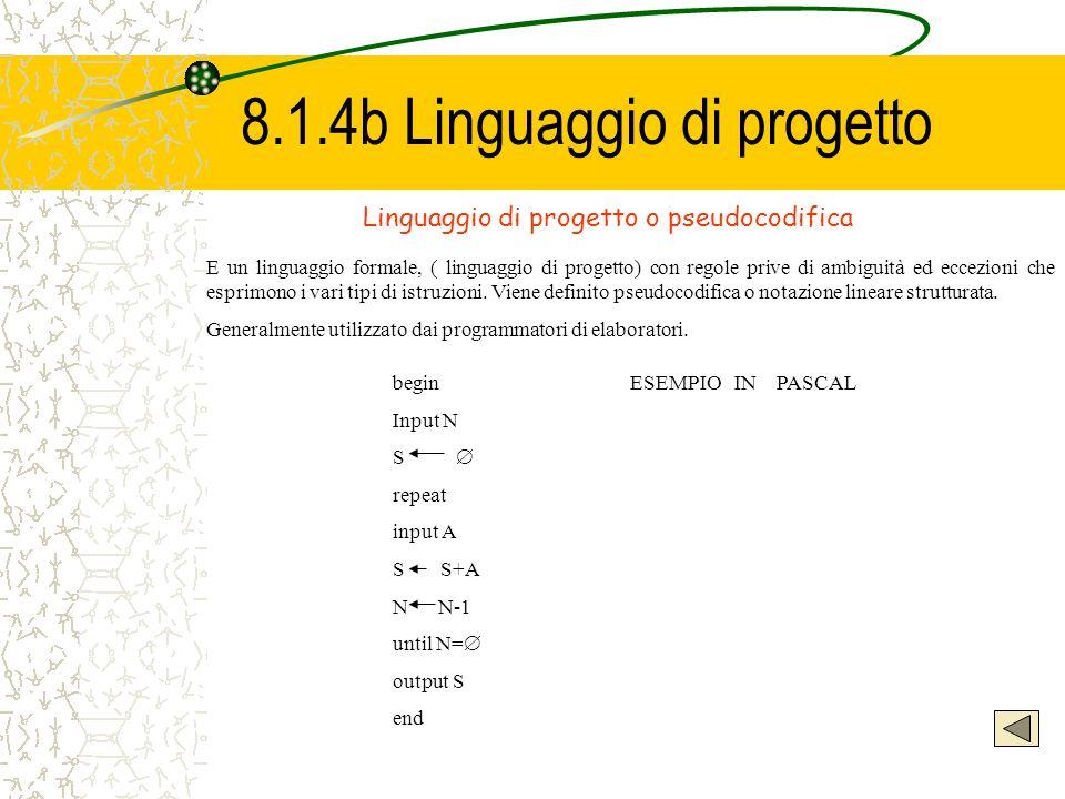 8.1.4b Linguaggio di progetto