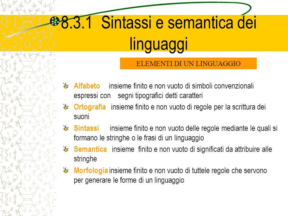 8.3.1 Sintassi e semantica dei linguaggi