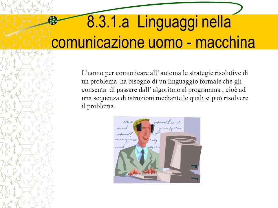 8.3.1.a Linguaggi nella comunicazione uomo - macchina